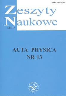 Acta Physica nr 13. ZN nr 357